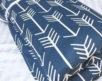 Baby Playmat, Floor Blanket, Baby Floor Mat, Navy Arrow Playmat, Baby Quilt, Tummy Time Mat, Monogrammed Playmat, Crib Bedding, Activity Mat