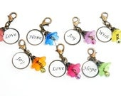 Key Chain Charms,  Zipper Pull Charm, Purse Charm, Key Charms,  Backpack Pull, Pretty Zipper Pulls, Personalized Charms