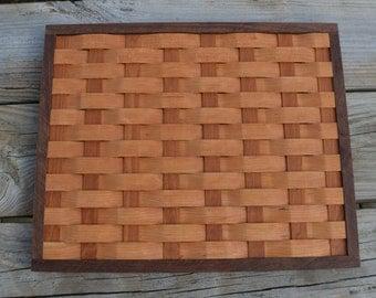 wood trivet, cooling rack,wall ornament Cherry wood