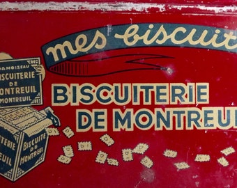 Vintage French Biscuit Tin         BX  (03)