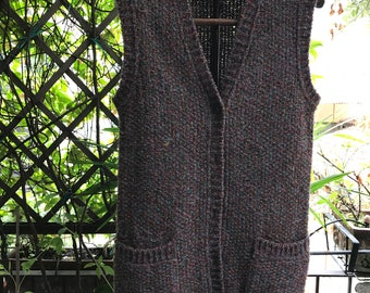 Vintage 1970s multicolor knitted vest by MISSONI