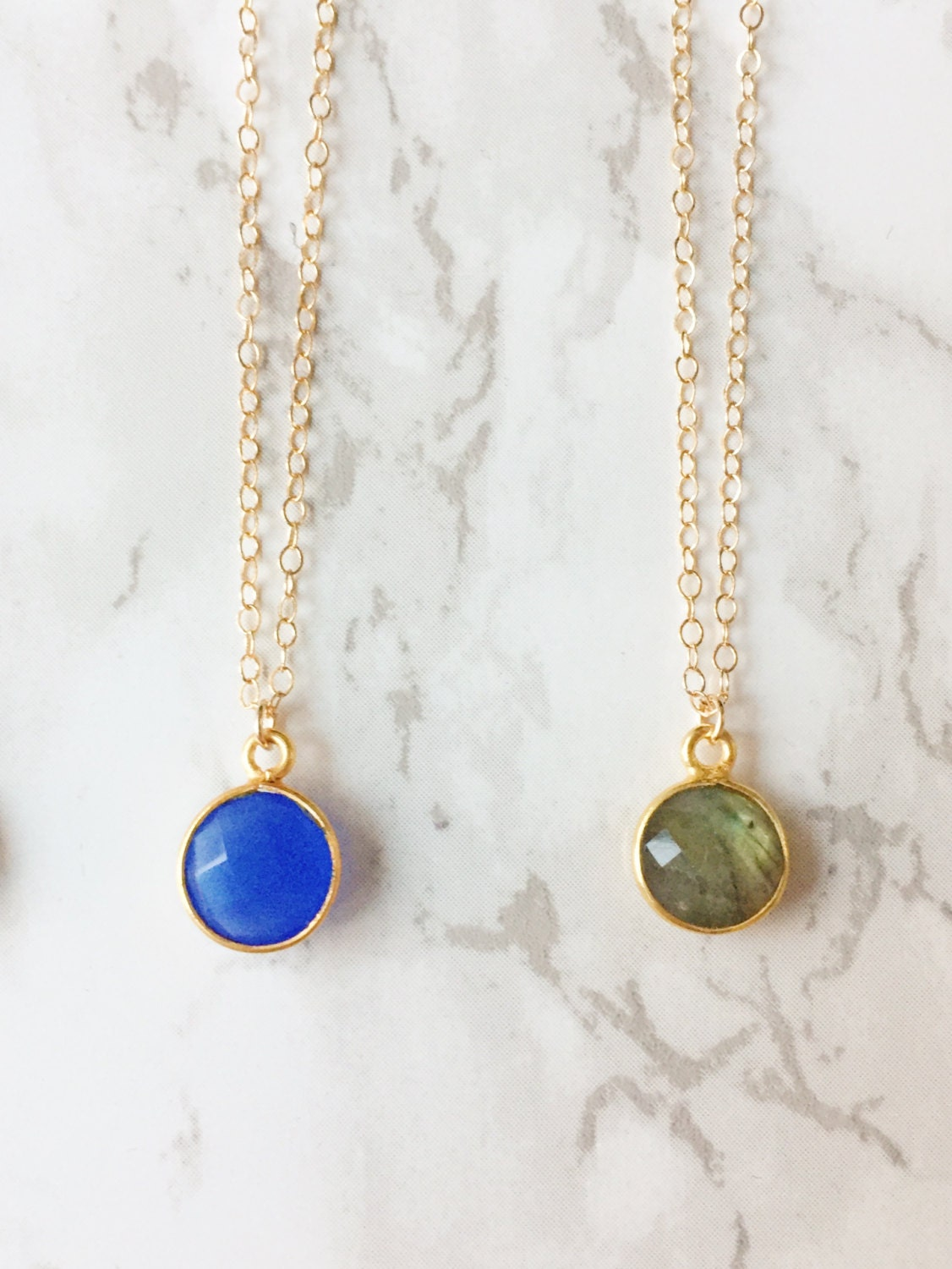 Gemstone Drop Necklace (Choose a Color)
