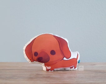 Dachshund Pillow (Red Brown Doxie)
