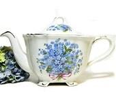 Crown Dorset Staffordshire Forget-Me-Nots Teapot