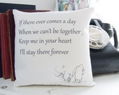 Winnie the Pooh mini pillow Ever Comes A Day Classic Quote Pillow Nursery Decor