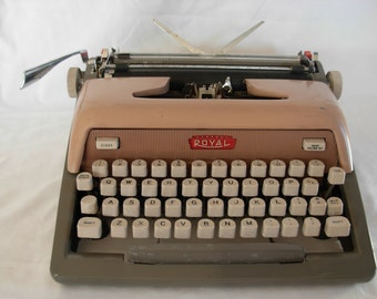 Vintage Royal Pink Typewriter Not in Working Condition