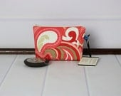 X-Small Purse Makeup Bag - Cosmetic Pouch - Fabric Zipper Pouch - Riley Blake - Vintage Verona - Gift Ideas for Mom