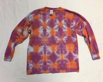 Funky Tie Dye Youth Longsleeve size Large K157