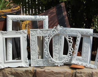 PICTURE FRAMES / Shabby Chic Frames / Nursery / Wall Decor / Set Of 6 Ornate Frames
