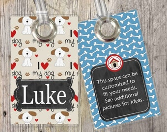 Dogs - Pets - Custom Tags for Backpacks, Luggage, Diaper Bags & More!