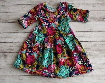 Toddler Dress, Flower Girl Dress, Girl Spring Dress, Baby Dress, Maxi Dress, Hi low dress, Baby Peplum, Girl Dress, Kids Dress, Hi Low Top