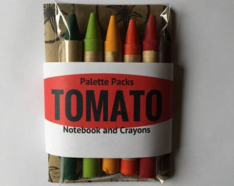 Palette Pack Notebook and Crayons- Tomato