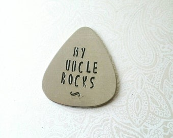 Gift for Uncle, Fun Gift for Uncle, Uncle Guitar Pick, My Uncle Rocks, Guitar Pick for Uncle, Gift for Uncle from Kids