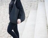 comfortable bag, black hobo, large hobo canvas, leather canvas bag, large handbag, carry bag, xxl hobo, zipper bag, shopper bag, bag for mom