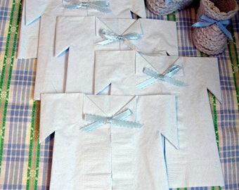 Unique baby shower favors - baby boy shower favor - its a boy blue napkins favour - decorative baby shower napkins