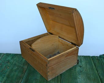 Wooden chest with arched lid
