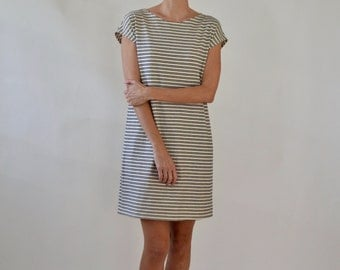 Shift dress / tunic / striped dress / jersey dress / loose dress / classic shift dress / linen dress