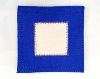 Nautical signal flag letter P wool felt coaster