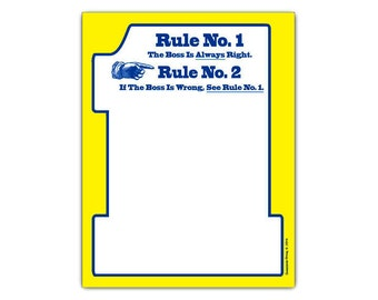 Rule No 1 The Boss Is Always Right Funny Notepad