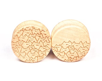 Handmade Catpile Hard Maple wood plugs