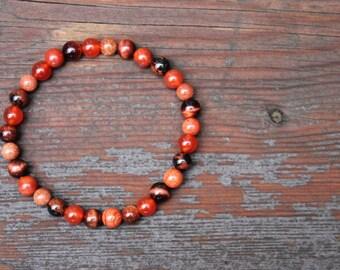 Energy Bracelet, Healing Bracelet , Boost Vitality , Energy Bracelet, Gemstone Bracelet , Crystal Intention Bracelet, Carnelian Jewelry