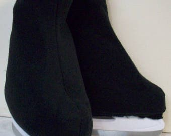 Melvage's Ice Skate Boot Warmers Hockey Slip-overs Covers (BLACK ONYX) Hockey Size 12-14