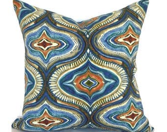 Ikat Outdoor Pillows ANY SIZE Outdoor Cushions Outdoor Pillow Covers Decorative Pillows Outdoor Cushion Covers Best OD Tyngsboro Indigo