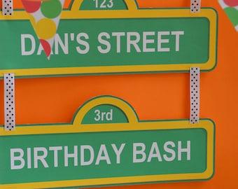 Big Sesame Street sign, Sesame Street door signs, Sesame Street label printables, Sesame Street party, Elmo door sign, Elmo gift tags