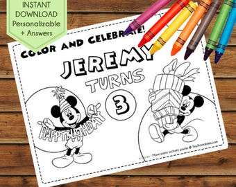 Mickey Mouse Party Favors, Mickey Mouse Birthday Favors, Mickey Mouse Coloring Pages, Clubhouse, Party Games, Party Supplies, Activity Book