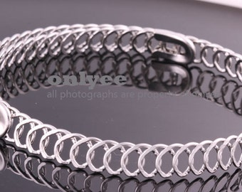 10PCS-10mm Free Size Bright Rhodium Plated Brass Chain Blank Collar choker Necklaces,Wire Chain (E371S)