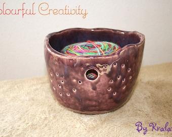 Yarn bowl - Purple
