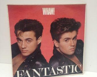 Wham - Fantastic 1983 vintage Vinyl Record LP  George Michael 80s wham!