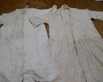 2 Very Old Vintage Infant Cotton Flannel Robes