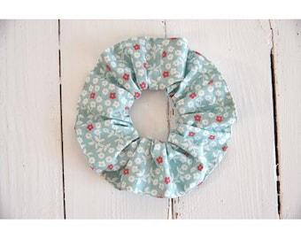 Elastic scrunchie in cotton organic flowers