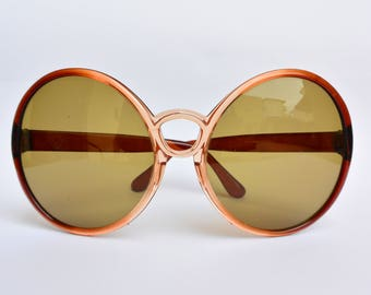 Vintage big round sunglasses 70s made in Italy