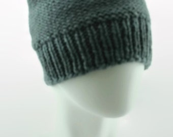 Large size hand-knit beanie