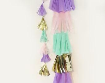 Balloon tassel, Mini Balloon Garland, Balloon Tassel, mini tassel, Balloon Tassel Garland you pick the color, Balloon Tassel Only