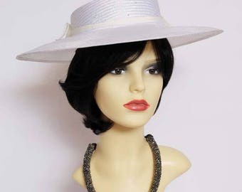 Vintage classic formal hat/Ascot, races,church, mother of the bride hat by Kangol