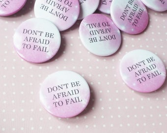 Inspirational Pin Badge Button Pin Motivational Quote Patches and Pins Accessories Button Badge Fail Quote
