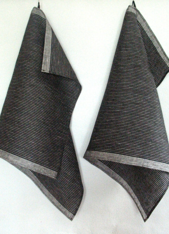 tea towel set stripes striped kitchen towels linen towel linen. Black Bedroom Furniture Sets. Home Design Ideas