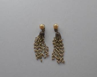 Vintage Elegant Drop Pearl Clip On Earrings