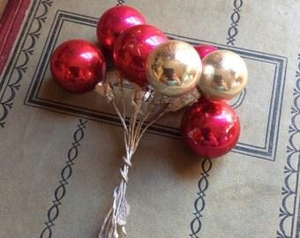 Glass Ball Ornament Spray Vintage
