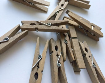 SMALL CLOTHESPIN SET - Thread storage, photo holders, garland holders: one of the most versatile supplies for your diy or craft drawer