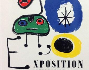 "Miro 48 ""Exposition du surrealisme""  printed 1959 Mourlot, Art in posters"