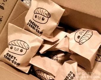DESTASH Grab Bag - a random selection of cute & kawaii handmade plushies, buttons, and stickers!