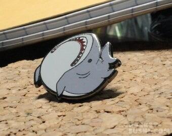 Derpy Shark Hard Enamel Lapel Pin