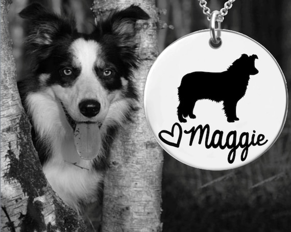 Border Collie Necklace | Border Collie Jewelry | Personalized Dog Necklace | Personalized Gifts | Korena Loves