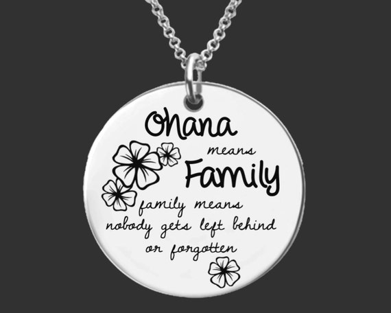 Ohana Necklace   Mother Gifts   Daughter Gift   Mothers Day   Gifts for Mom   Gifts for Daughter   Ohana means family   Korena Loves