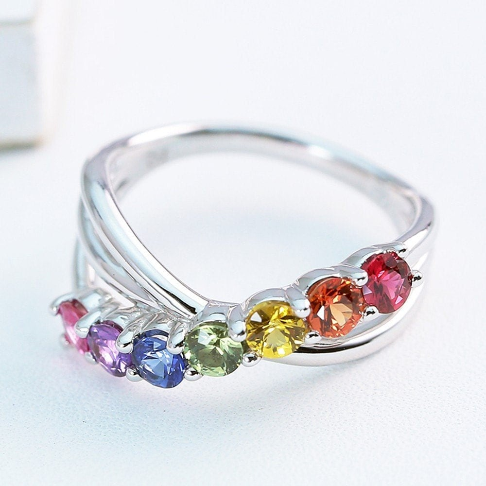 rainbow ring lgbt pride miniature - photo #16