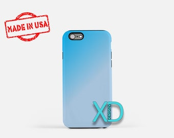 Teal Gradient iPhone Case, Blue and Gray iPhone Case Teal iPhone 8 Case, iPhone 6s Case, iPhone 7 Case, Phone Case, iPhone X Case, SE Case